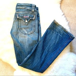 Hudson Low-Rise Flare Jeans size 29